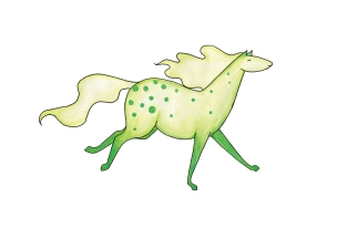 gulgrön häst rgb